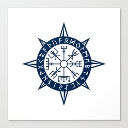 Vegvisir Viking Compass Canvas Print