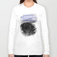 pitbull Long Sleeve T-shirts featuring Pitbull Respect by DraconianBriana