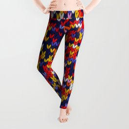 Knitted multicolor pattern 1 Leggings