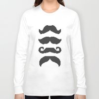 moustache Long Sleeve T-shirts featuring Moustache by Jake  Williams