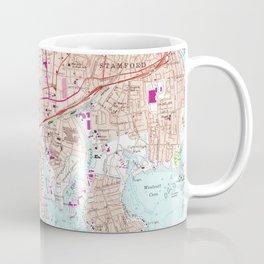 Stamford Connecticut Map (1987) Coffee Mug