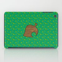 animal crossing iPad Cases featuring Animal Crossing Spring Grass by Rebekhaart