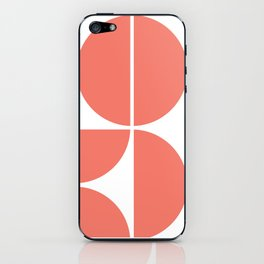 Mid Century Modern Living Coral Square iPhone Skin