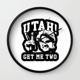 utah get me two Wall Clock