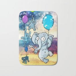 Flying elephants Bath Mat
