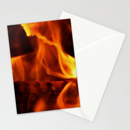 Figure in Flame Stationery Cards