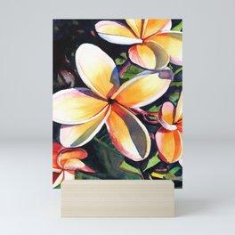 Kauai Rainbow Plumeria Mini Art Print