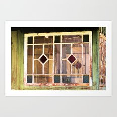 look into the old farmers house Art Print