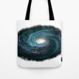 We are here turquoise Tote Bag