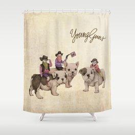 Young Guns Shower Curtain