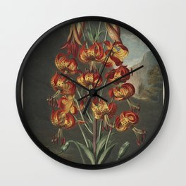 Reinagle, Philip (1749-1833)  - The Temple of Flora 1807 - Superb Lily Wall Clock