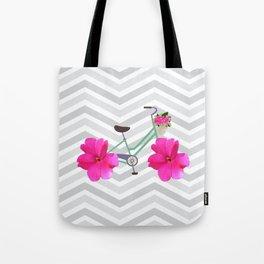 Petal Pusher Bike Tote Bag