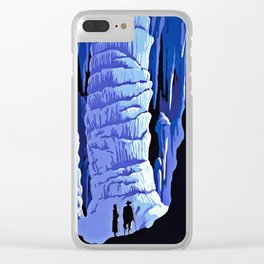 See America blue grotto vintage travel Clear iPhone Case