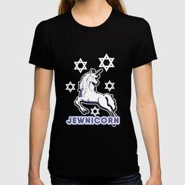 Jewnicorn Jewish Unicorn Funny Hanukkah T-shirt