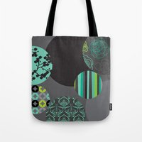 oriental Tote Bags featuring Oriental by thickblackoutline