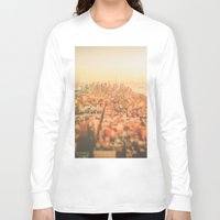 new york city Long Sleeve T-shirts featuring New York City Sunset by Vivienne Gucwa