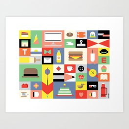 A Visual Collection of The Things I Love Art Print
