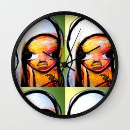 GIRL WITH BIRD Wall Clock