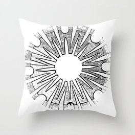Polypite of Aurelia Aurita Cut Throw Pillow