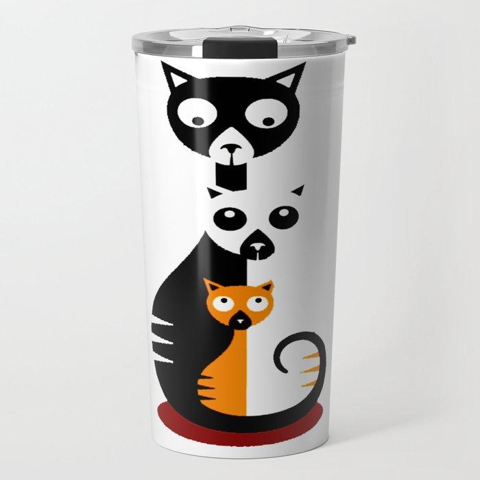 Cats Family Travel Mug
