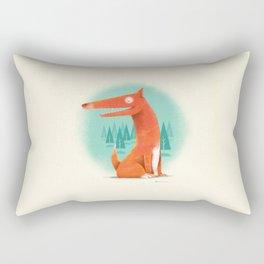 Red Dog Rectangular Pillow