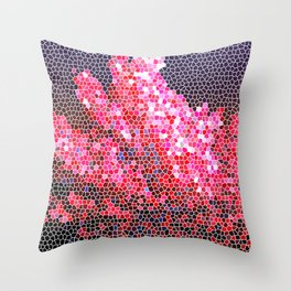 Pink coral artwork Throw Pillow