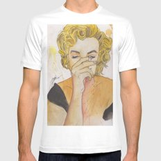 Marilyn MEDIUM White Mens Fitted Tee