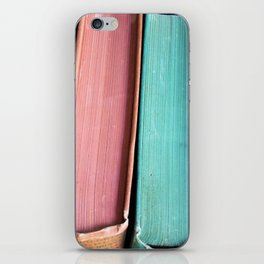 Colorful Vintage Book Spines iPhone Skin
