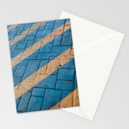 Yellow Lines at the ground Stationery Cards