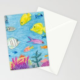 Crayon Fish #4 Stationery Cards