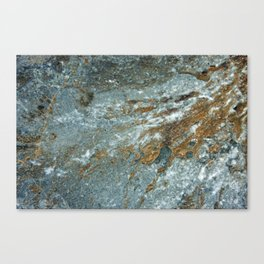 Earthy Blue and Gold Rock Canvas Print