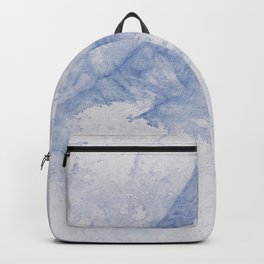 Blue and white abstract splash hand painted tie dye texture Backpack