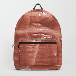 Gently brown wave wash drawing Backpack