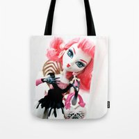 monster high Tote Bags featuring Monster High  by Jessica Yakamna