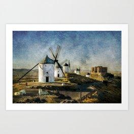 Windmills of Castilla la Mancha Art Print