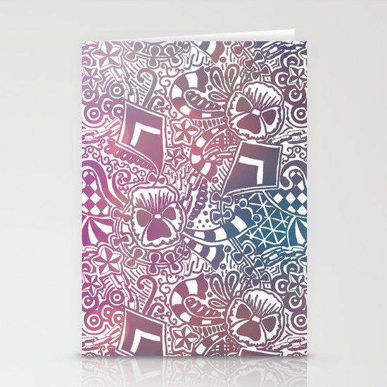 Theta Print-Pastel Stationery Cards