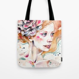 As Delicate As A Wildflower (female portrait) Tote Bag