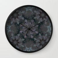 Damask, grey Wall Clock