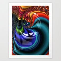 Ultra Fractal Swirl Art Print