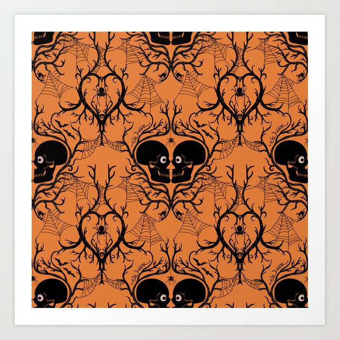 Halloween Art Prints | Till Death Do Us Part Halloween Art Print By Blacksunshine Society6