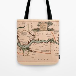 Map Of Gambia 1745 Tote Bag