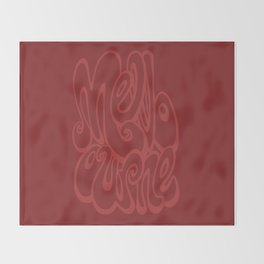 Melbourne typography - chile oil red Throw Blanket