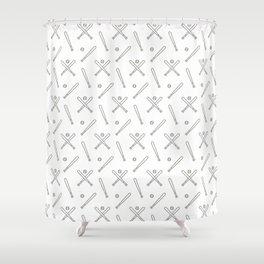 Baseball sport pattern Shower Curtain