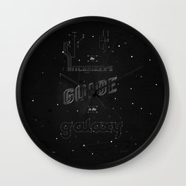 The Hitchhikers Guide to the Galaxy Wall Clock