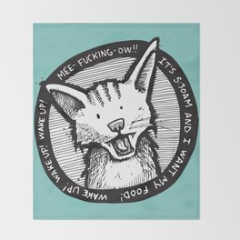 Mee-f'in-ow! Throw Blanket