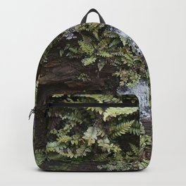 Fern Covered Coastal Cliff Face Backpack