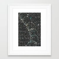 dna Framed Art Prints featuring DNA by Beth Thompson