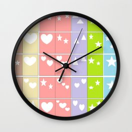 Color Shape Blocks Wall Clock