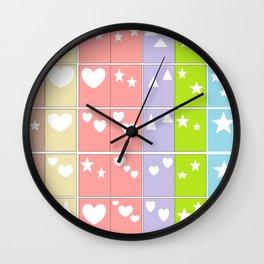 Color Shape Blocks Wall Clock