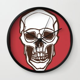 Mannequin of Death (red palette) Wall Clock